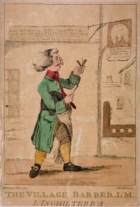 The Village Barber by H Bunbury 1772