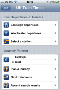 UK Train Times - Live Departures screen shot