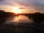 Sunrise over The River Ribble, Preston