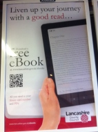 QR code advert for e-reader