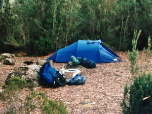 Image of a tent, associated with hiking, camping or trekking